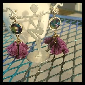 💎💎 Hypoallergenic ~ Purple Tassel Earrings💎💎